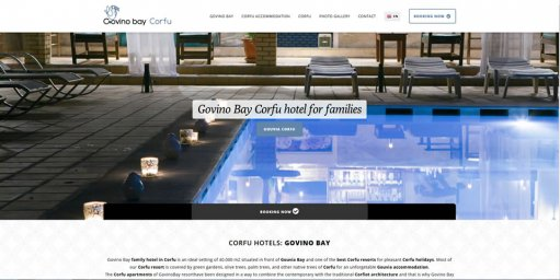 Govino Bay Corfu hotel for families