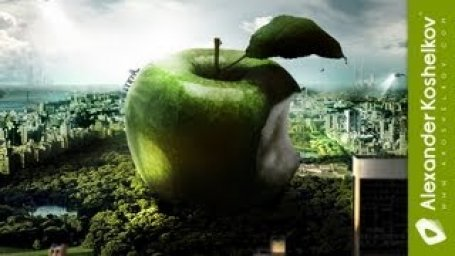 Alexander Koshelkov Photoshop Speed Art Apple Forever